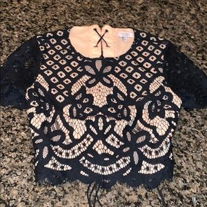 🖤TOBI black lace crop small 🖤
